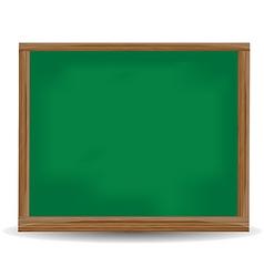 Green chalkboard blackboard vector image