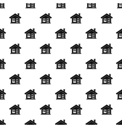 House with chimney pattern simple style vector