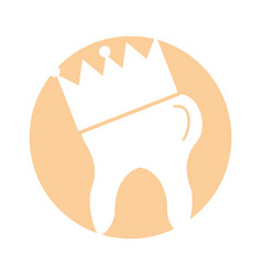 Human tooth with crown vector
