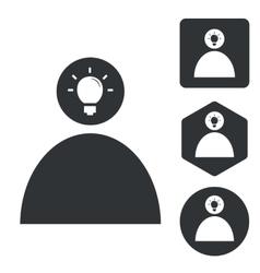 Idea icon set 2 monochrome vector image vector image