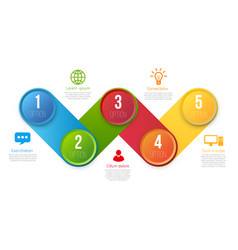 infographics with 5 steps or options colored vector image vector image