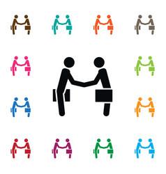 Isolated partnership icon handshake vector