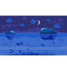 Night Sea Game Background vector image