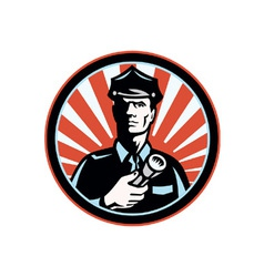 Policeman Security Guard vector image