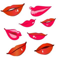 Print of red lips vector image