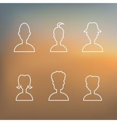 profile icon vector image vector image