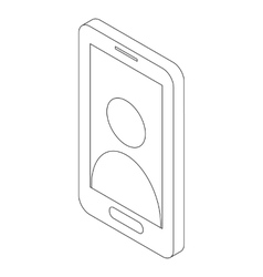 Smartphone icon isometric 3d style vector image vector image