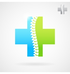 Spinal clinic center logo vector image vector image
