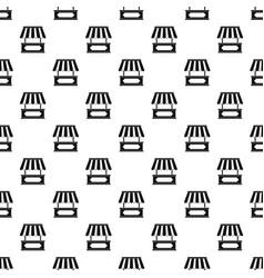Street kiosk pattern vector