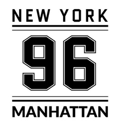 T shirt typography graphic new york city manhattan vector