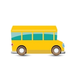 Funny cartoon orange school bus vector