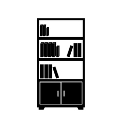 Bookcase library office furniture icon vector