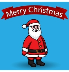 Santa claus on blue background flat style vector