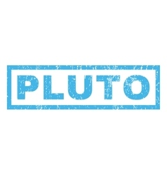 Pluto rubber stamp vector
