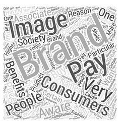 Benefits of branding word cloud concept vector