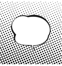 Speech bubble on background with black dots vector