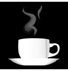 White hot cup of coffee vector image