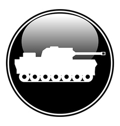 Panzer symbol button vector