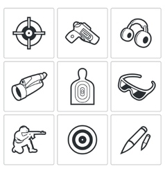 Shooting gallery icons vector