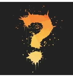 Grunge question mark vector