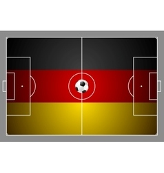Bright soccer background with ball german colors vector