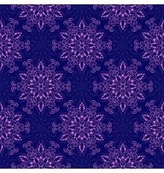 Seamless mandala pattern over dark blue vector