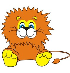 Smiling little lion vector