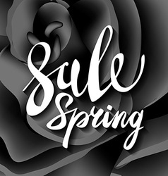 Pretty flower black roses text spring sale t vector