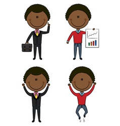 Cute african-american businessmen vector