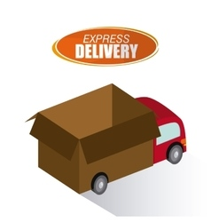 Delivery truck design vector