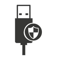 Usb connection plug icon vector
