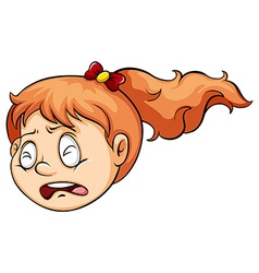A girl crying vector image vector image