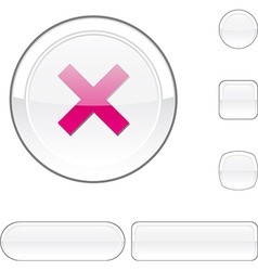 Abort white button vector