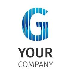 Abstract blue logo g vector
