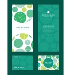 Abstract green circles vertical frame vector
