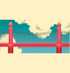 Bridge against the sky vector