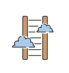 Career ladder thin line icon vector