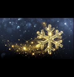Christmas magic snowflake vector image vector image