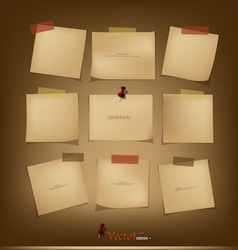 Collection of Vintage paper vector image