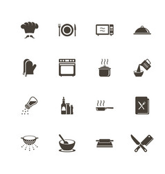 Cooking - flat icons vector