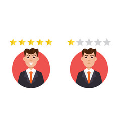 customer review positive and negative feedback vector image