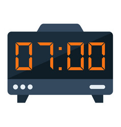 Digital clock flat icon electronic and alarm vector
