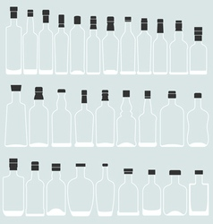 Empty bottle shape vector image vector image