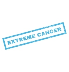 Extreme cancer rubber stamp vector