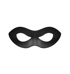 Eye mask in black design vector