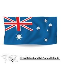 Flag of heard island and mcdonald islands vector