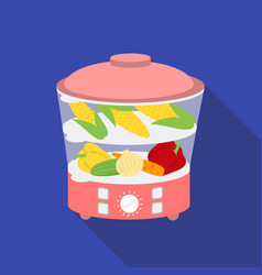 Food steamer icon in flat style isolated on white vector