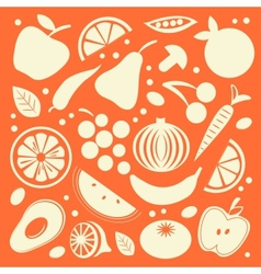 Fruit and vegetables set vector image vector image