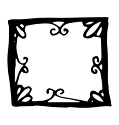 Hand drawn rectangle frame vector image vector image