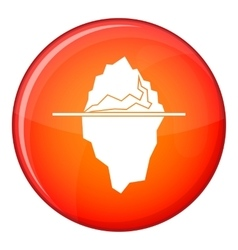 Iceberg icon flat style vector